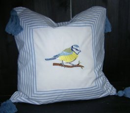 Pillowcase Blue Tit, 40 x 40 cm