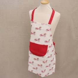 Childrens Apron Red Bycykle, 48 x 56 cm