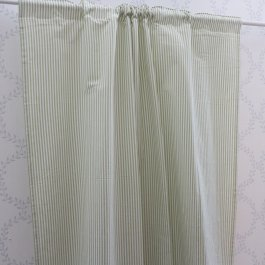 Curtain Carl, lightgreen/white 120 x 250 cm