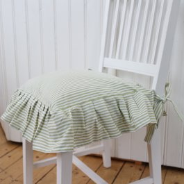 Seat cover Carl, lightgreen striped volang