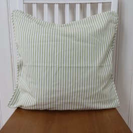 Pillowcase Carl, lightgreen/white 45 x 45 cm