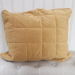 Pillowcase Cozy velvet golden, 50 x 60 cm