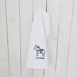 Kitchen towel dalahorse white/blå, 30 x 45 cm