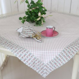 Tablecloth Floral, 100 x 100 cm