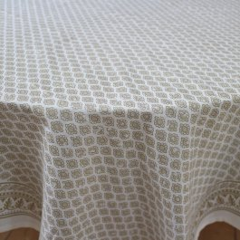 Tablecloth Antibes, gold 150 x 250 cm