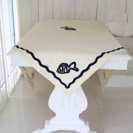 Tablecloth Fisk, 150 x 150 cm