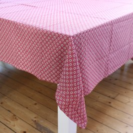 Tablecloth Kristina, red/white 140 x 250 cm