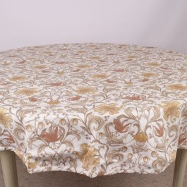 Tablecloth Alma, Yellow Ø 145 cm