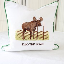 Pillowcase Elk white, 40 x 40 cm