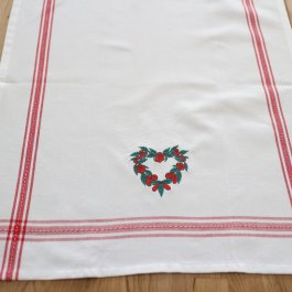 Kitchen Towel Eva Heartwhite/red, dobby 50 x 65 cm