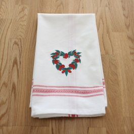 Guest Towel Eva Heart white/red, dobby 30 x 45 cm