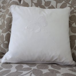 Pillowcase Butterfly white, 40 x 40 cm