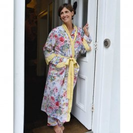 Dressing Gown Floral lemon, one size