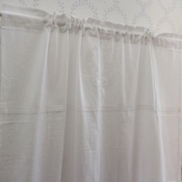 Curtain Gustavia, white 120 x 240 cm