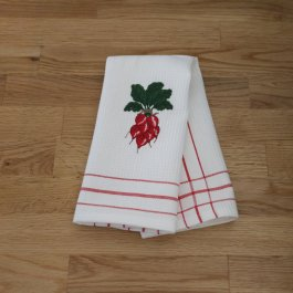 Kitchen towel Radish, 30 x 45 cm waffled