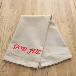 Kitchen towel Merry Xmas beige, 30 x 45