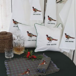 Kitchen towel Pheasant white, 50 x 65 cm