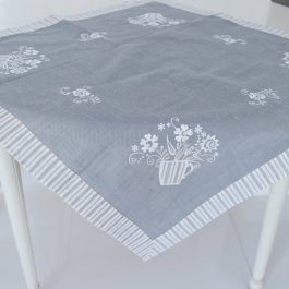 Tablecloth Blomster, 85 x 85 cm