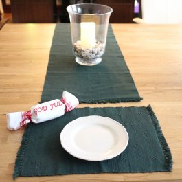 Rib Placemat dobby, darkgreen