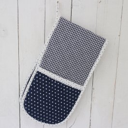 Pot Holder doublehanded Star, blue