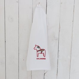 Kitchen towel dalahorse white/red, 30 x 45 cm