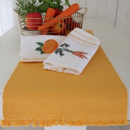 Kitchen towel Carrot, 50 x 70 cm waffled