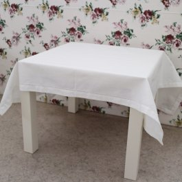 Tablecloth Hilda, White 100 x 100 cm