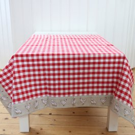 Tablecloth Farmstyle,red 150 x 250 cm