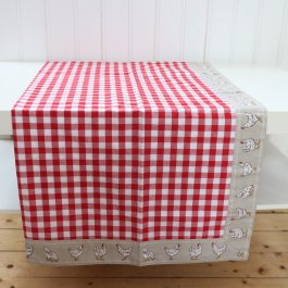 Tablecloth Farmstyle,red 100 x 100 cm