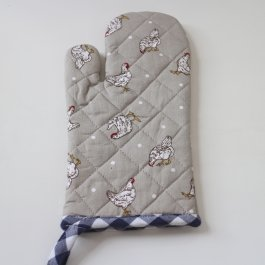 Oven Glove Farmstyle, blue 16 x 30 cm