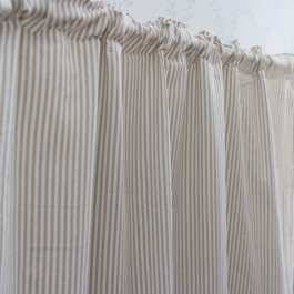 Curtain Carl, Beige/white 120 x 250 cm