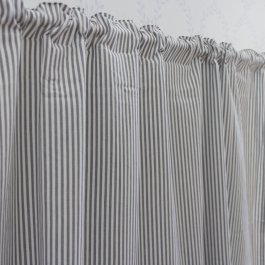 Curtain Carl, grey/white 140 x 250 cm
