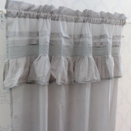 Curtain Annie Voile, grey 120 x 250 cm