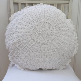 Pillowcase Mormor, round 50 cm