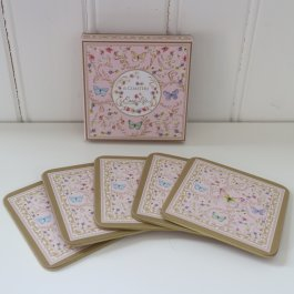 Coaster Butterfly 6 pieces