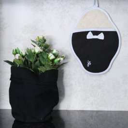 Pot Holder Bow, black