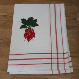 Kitchen towel Radish, 50 x 70 cm waffled