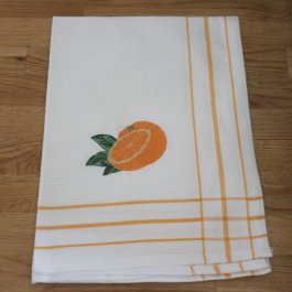 Kitchen towel Oranges, 50 x 70 cm waffled