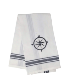Kitchen towel Compass blue dobby, 50 x 65 cm