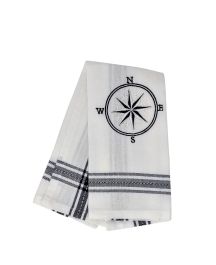 Guest towel Compass blue dobby, 30 x 45 cm