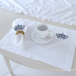 Placemat Crown, Blue 33 x 45 cm