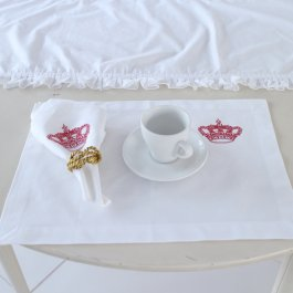 Placemat Crown, Red 33 x 45 cm