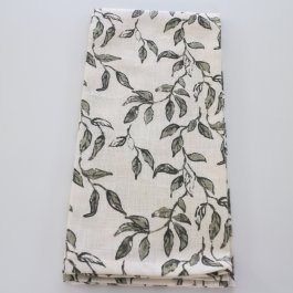 Kitchen towel Adrienne, olivegreen 50 x 70 cm