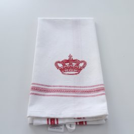 Kitchen towel crown red dobby, 30 x 45 cm