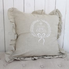 Pillowcase Gustavia linenbeige , 45 x 45 cm