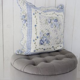 Pillowcase CountryStyle blue, 50 x 50 cm