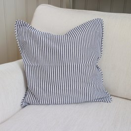 Pillowcase Carl, Navyblue/white 45 x 45 cm
