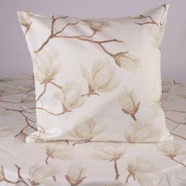 Pillowcase Fiore, white 45 x 45 cm