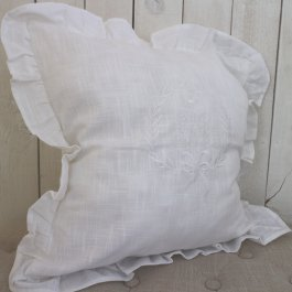 Pillowcase Gustavia, White 45 x 45 cm