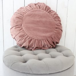 Pillowcase Velvet, round, pink